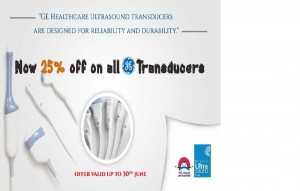Now Avail 25% off on all GE Transducers till 30th June 2016 from Niranjan Ultrasound India